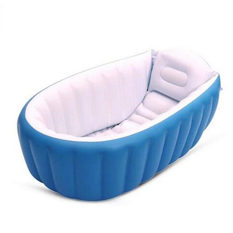 Portable Inflatable Baby Bath Kids Bathtub Thickening Folding Washbowl Children Tub Baby Swimming Pool