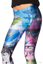 S TO XXXXL Size 2016 New Arrival Cartoon Peter Pan Leggings Polyester Legins Fashion Women Blue Pants 6 Patterns
