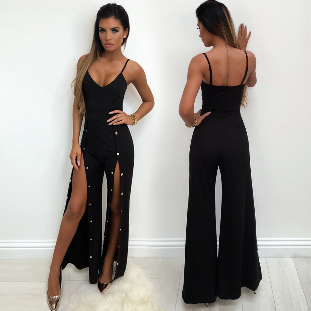 Dropship 2019 New Arrival Women Sexy Off Shoulder Belt Backless Sexy Rompers Print Floral Jumpsuit Hot Red New Hot #3 Women's Clothing
