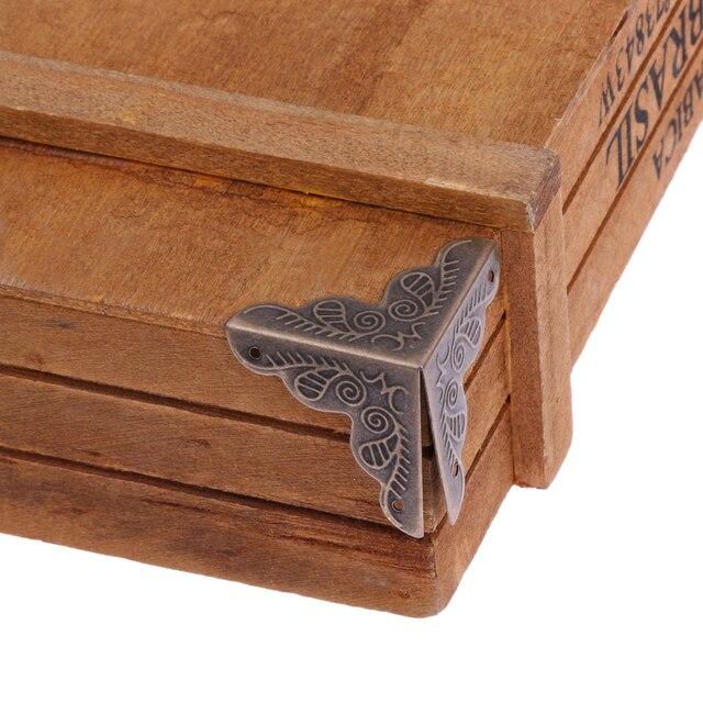 25 Mm Luggage Case Box Corners Brackets Decorative Corner For Furniture Triangle Rattan Carved