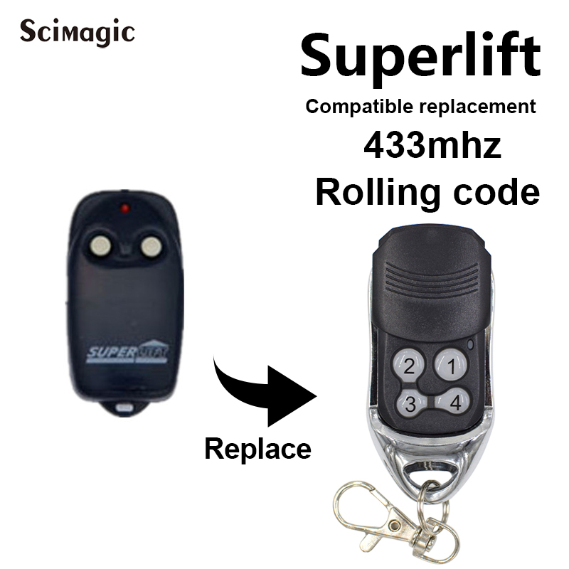 Remote Control SUPERLIFT TX4 TX2 RDO SDO SlimFit Garage Door Remote Control 433.92mhz Remote Control Rolling Code