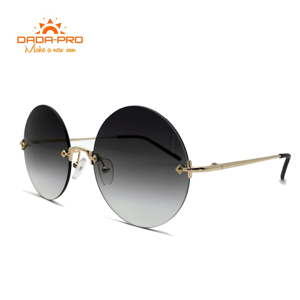DADA PRO 2017 Luxury Brand Designer Polarized Round Sunglasses Women Vintage Polaroid Retro Metal Legs Nerd