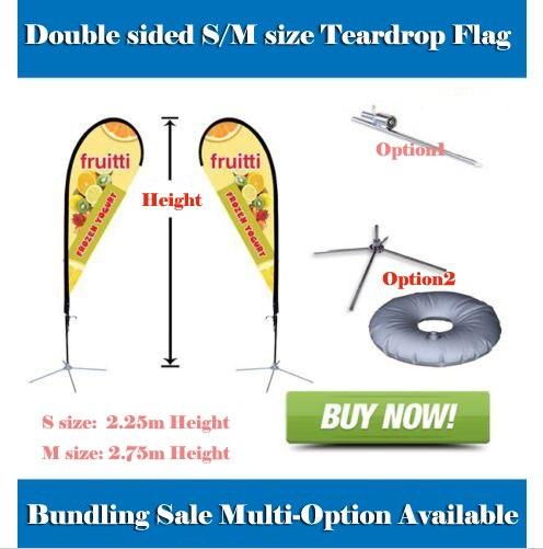 Beach flag Teardrop Banner Flag Bunlding Sale S M Size 2 8m 3 4m Banner double