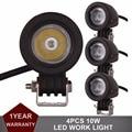 4 pcs 10 W LED Trabalho Light Offroad Car Auto Truck ATV Motocicleta Bicicleta reboque SUV 4X4 4WD 12 V 24 V Ponto Flood luz de Nevoeiro farol