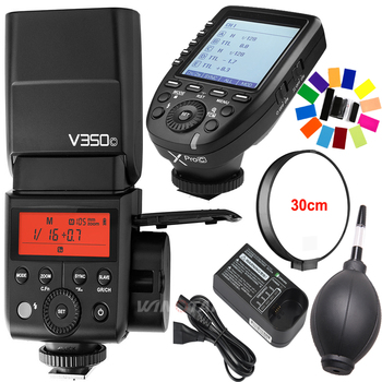 Godox V350C TTL HSS 1/8000s 2.4G X System Camera Speedlite Flash with Built-in Li-ion Battery + Xpro-C Transmitter for Canon