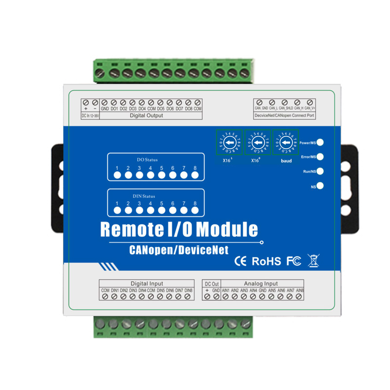 Industrial Class IOT Remote Controller CANopen Protocol With CANBus Interface Support Predefined Master/Slave M160C