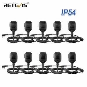 Image 1 - 10 шт., оптовая продажа, водонепроницаемый микрофон IP54 для Kenwood RETEVIS H777 RT3 RT3S RT22 Baofeng, рация с функцией «раций» и «уоки токи», для моделей Kenwood RETEVIS H777, RT3, RT3S, RT22, Baofeng