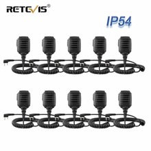 10 個卸売 RS 114 IP54 防水スピーカーケンウッド retevis H777 RT3 RT3S RT22 baofeng UV 5R トランシーバー