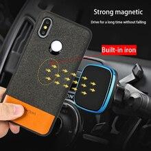 Fabric Magnetic case For Xiaomi Mi 9T 9t pro 8SE 9 se back cover business Case xiaomi redmi k20 note 7 A2 lite Mix 2S