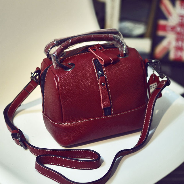 9d6126f3da797 Echtes Leder Frauen taschen Mode Marke Designer Handtaschen Schulter Vintage  Kuh Leder Arzt Messenger Bags Aktentasche