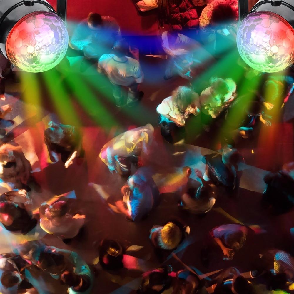 Mini Magische Bal spraakgestuurde LED Voice comtrol Magic Ball Stage DMX Verlichting Effect Home Entertainment-in Toneelbelichtingseffecten van Licht & verlichting op
