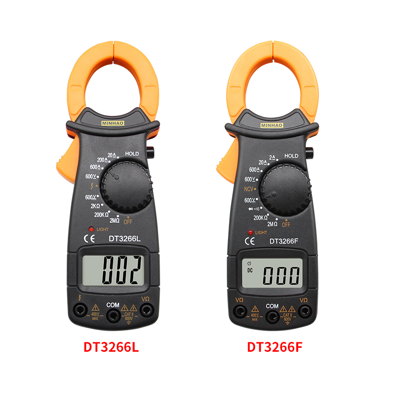 DT-3266L Digital Amper Clamp Meter Multimeter NCV Current Clamp Pincers Voltmeter Ammeter 600A AC/DC Ohm Current Voltage Tester