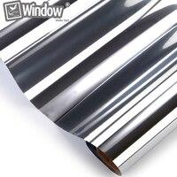 Home Building Commercial Window Tint 0 5x6m Silver Reflective Films 20 VLT
