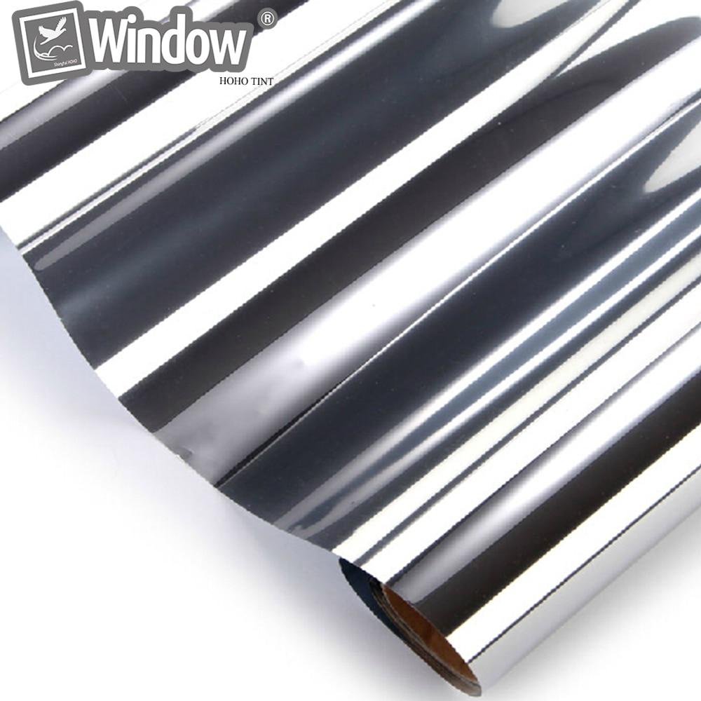 Home Building Commercial Window Tint 0.5x6m Silver Reflective Films 20% VLT