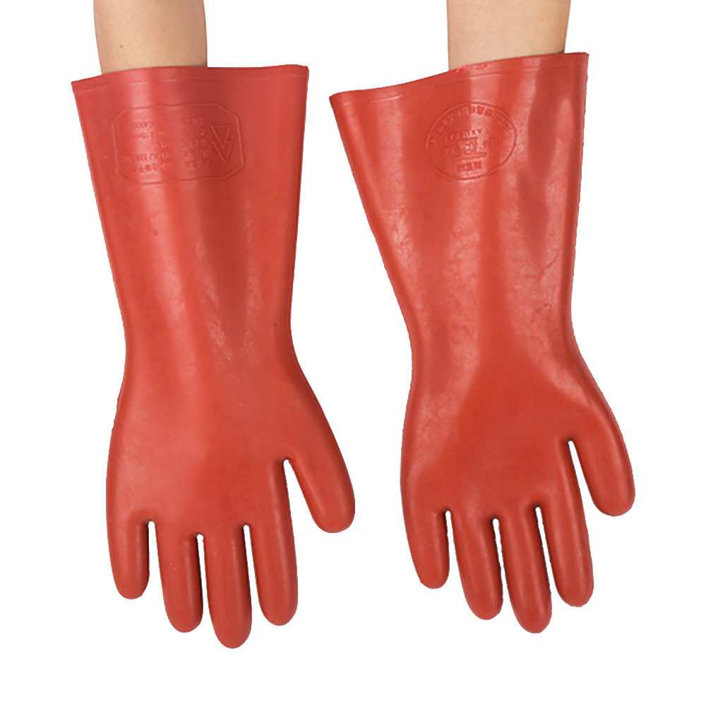 12KV insulation gloves electric shock protection high voltage rubber gloves electrical work safety protection in Safety Gloves from Security Protection