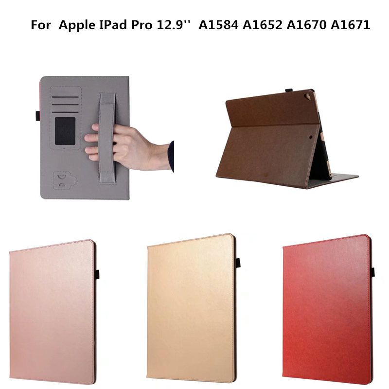 Tablet Cover Case Luxury PU Leather Protective Card Holder Cases For for iPad Pro 12.9 inch 2017 A1584 A1652 A1670 A1671 Fundas