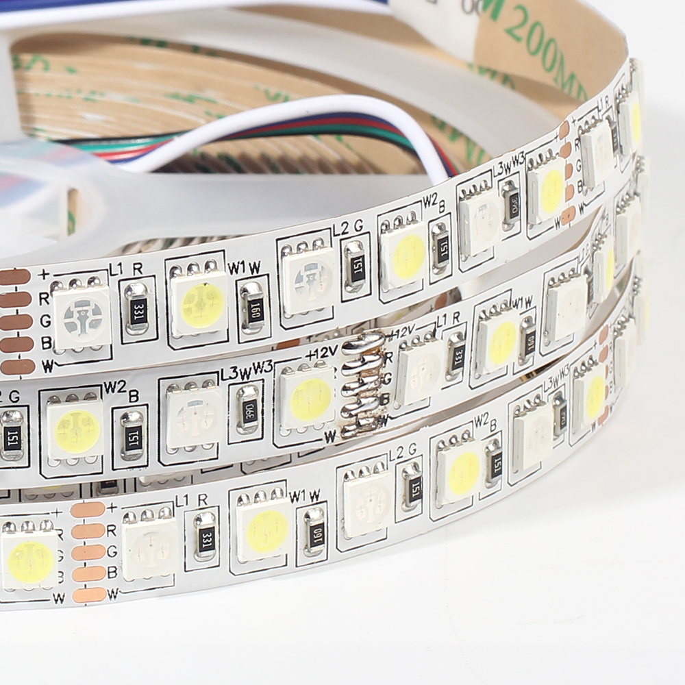 96LEDs/m LED strip 5050 RGBW RGBWW 5M DC12V Super Bright 5050 LED Flexible Strip Light IP20 / IP65 10pcs 5 pin led strip wire connector for 12mm 5050 rgbw rgby ip20 non waterproof led strip to wire connection terminals