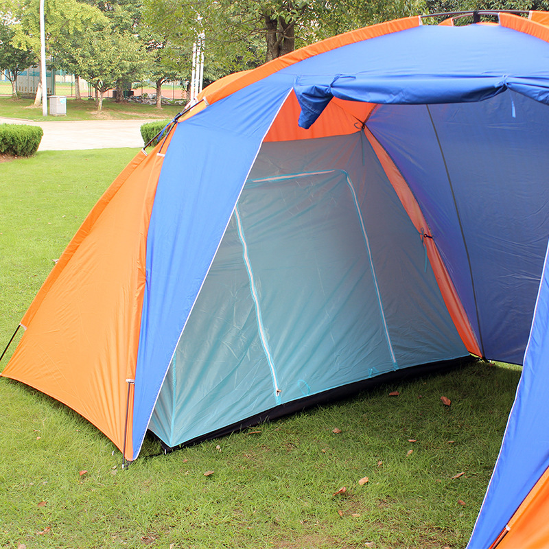 C&ing Party Tents folding two room tent 3 4 Person Outdoor Travel large c&ing tent for rest fishing 420*220*175CM-in Tents from Sports u0026 Entertainment ... & Camping Party Tents folding two room tent 3 4 Person Outdoor ...