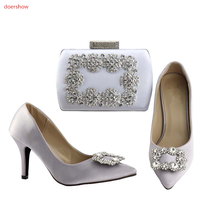 doershow New come Italian Shoes With Matching Bag Set For Wedding Party Fashion Women Pumps African Shoes and Bags!HV1-73 italian shoes with matching bag new design african pumps shoe heels fashion shoes and bag set to matching for party gf25