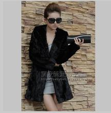 S/2Xl Womens Long Section Fur Coats Winter And Autumn Man-Made Black Hooded Fur Overcoats Female Fox Fur Coat Clothings J1624