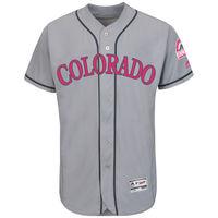 MLB Men S Colorado Rockies Baseball Gray Mother S Day Flex Base Team Jersey
