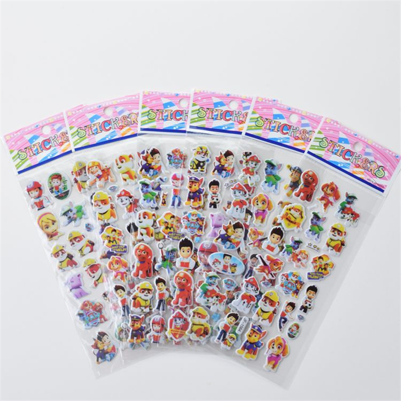 New Arrival Paw Patrol Dog Sticker Toys Patrulla Canina Action Figures Toy Kids Children Toys Birthday Party Collection Gifts