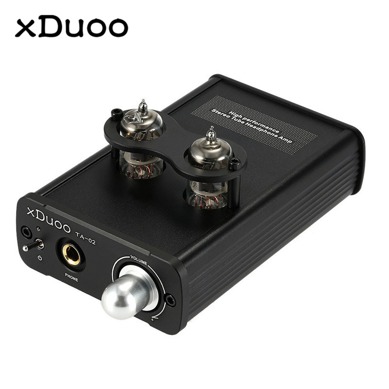 XDUOO TA-02 High Performance Stereo Tube Headphone Amplifier 780mW Dual Tube Amp+Class A BUF original xduoo ta 20 high performance balanced tube headphone amplifier power amplifier