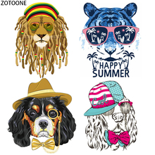 ZOTOONE Fashion Animals Patch for Clothing DIY Iron on Patches Stickers Applique Heat Transfer Applications Clothes Stripes E