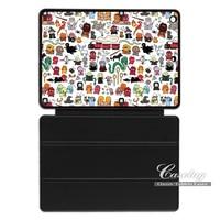 Harry Potter Caratteri Doodle Abbastanza Bello Caso Della Copertura Astuta Per Apple iPad 2 3 4 Mini Air 1 Pro 9.7 10.5 Nuovo 2017 a1822