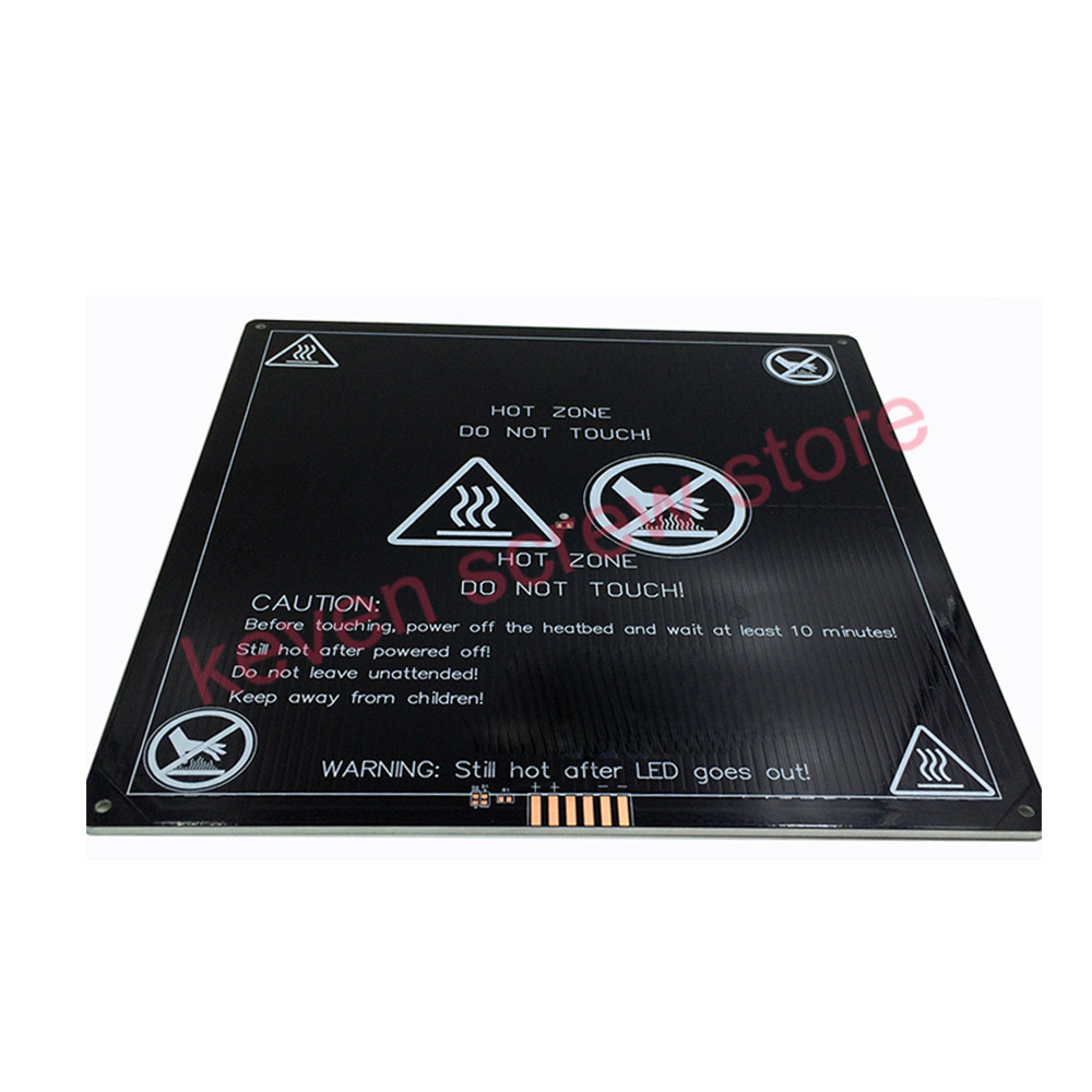 MK3 Heated Bed 12V 24V Black Parts Heatbed Hot HotBed 3D Printers Part Heat 220x220 Aluminum Plate 3mm PCB Accessories reprap mk2a aluminum heat bed 12v 24v 327 327 3mm pcb standard hot plate 3d printer parts
