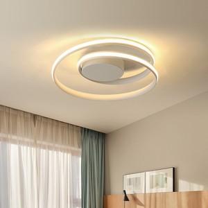 Image 2 - Siyah halka Modern LED avize lamba oturma odası için uzaktan ev yemek odası ışıkları fikstür tavan daire parlaklık