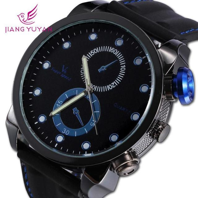 Sales Cool V6 Men Watch Waterproof Masculine Sports Watches Quartz Rubber Waterproof Crystal Wristwatches
