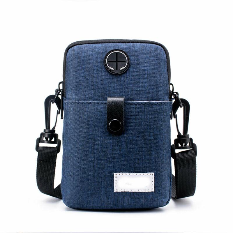 Nylon Shoulder Bag Waist Storage Messenger Handbag Mobile Phone Packs Sports Purse Pouch Wallet Unisex Mens