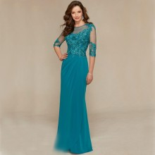 Платье для матери невесты,, кружевное платье с бисером для свадьбы, половина рукава, платья для жениха, крестной матери, вечерние платья, Trajes De Novia