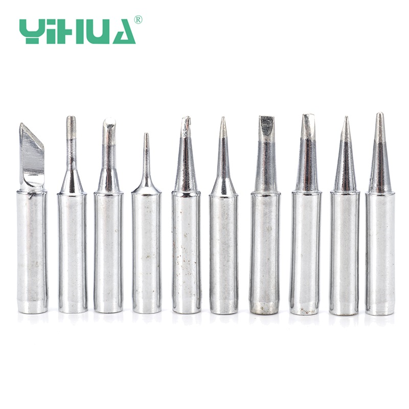 YIHUA 900M-T 10Pcs Lead-free Soldering Iron Tips Soldering Rework Station Iron Tool Kit For Aoyue T Series Soldering Iron Tips