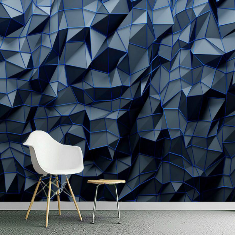 Home Improvement 3D Mural Wallpaper for Walls 3d Wall Papers Home Decor Modern Abstract Geometric Polygon Navy Blue Wallpaper 3DHome Improvement 3D Mural Wallpaper for Walls 3d Wall Papers Home Decor Modern Abstract Geometric Polygon Navy Blue Wallpaper 3D