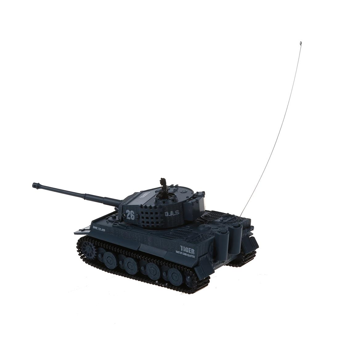 New tanks on radio control Mini 1:72 49MHz R/C Radio Remote Control Tiger Tank 20M Kids Toy Gift Army (Grey)