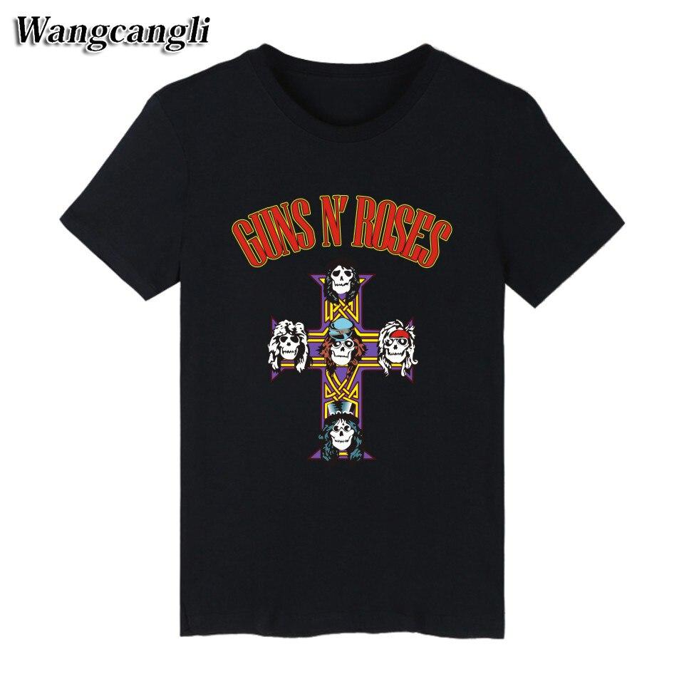GUNS N ROSES Punk Summer Cotton black T font b shirt b font font b Men