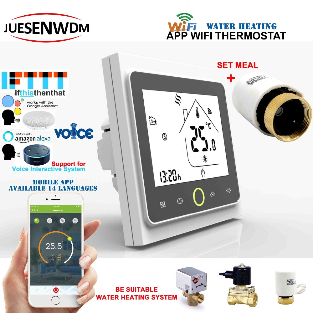 Sonic interaction 3A Weekly Programmable LCD Touch Screen smart thermostat wifi wifi thermostatic radiator valve for