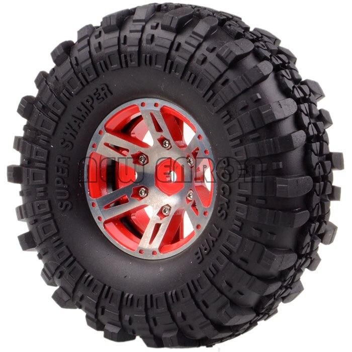 1059 7035 Ruota/Rim e Pneumatici RC 4x1.9 Metal Rock Crawler 1/10 D90 SCX10 K949 - 6