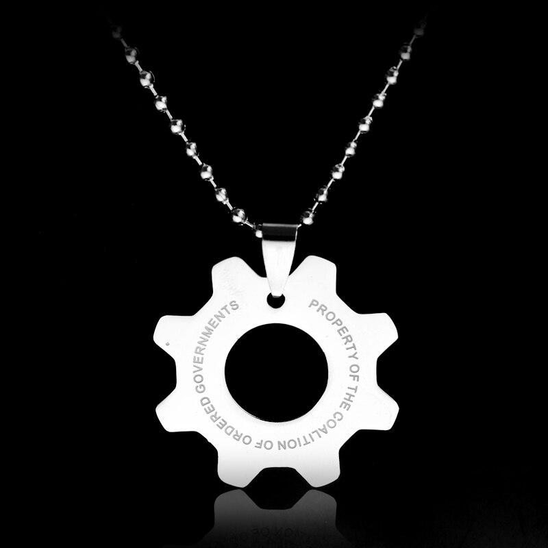New Game Jewelry War Machine Movie jewelry Men Necklaces new sautoir war machine ingranaggi logo gear For Fans necklace