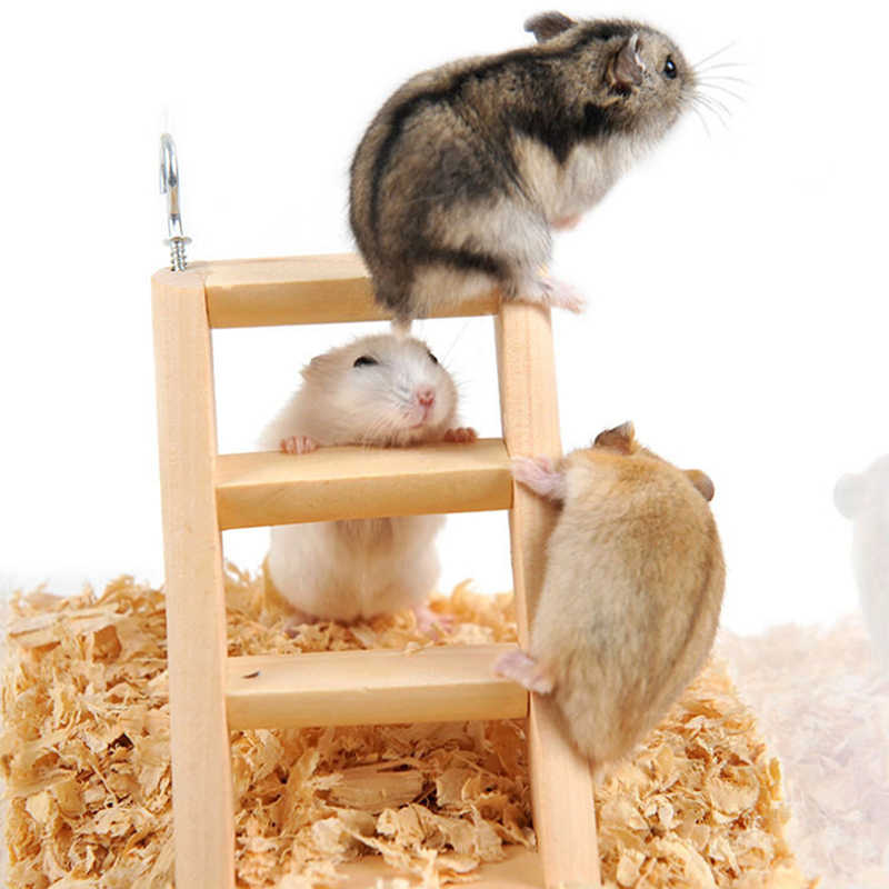New Arrivals Hamster Guinea Stairs Wood Mouse Hamster Ladder Pig Toy Ferrets Toy Small Pet Stair Toy