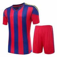 2016 17 Men S Soccer Jerseys Striped Blank Training Set Uniform Plain Football Suits Can Customize