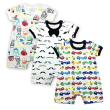 Newborn jumpsuits Baby Boy Girl Romper Clothes 3 Pieces/lot Short Sleeve Infant Product Clothing 3piece/lot