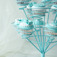 Tiffany blue dessert table 13 fork snack Wedding creative dessert furnishing articles