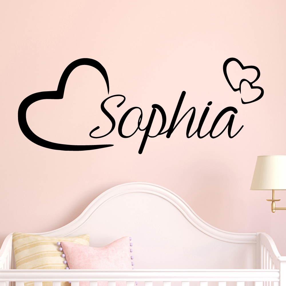 Customized Name Nursery Wall Stickers Vinyl Art Decals For Kids Room Decoration Wall Art MURAL Bedroom Decor