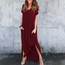 04a3657e539a9 Buy side split tshirt maxi dress and get free shipping on AliExpress.com