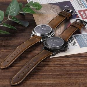 Image 5 - CHIMAERA Accessori Per Orologi Cinturino di Vigilanza 22 millimetri 24 millimetri Vintage In Pelle di Mucca Watch Band Per Fossil Cinturino