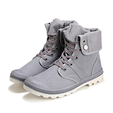 2018 Men Fashion High-top Mens Military Boots Ankle Shoes Work Boots Canvas Comfortable Spring Fall Size 39-45 Canvas Men Boots