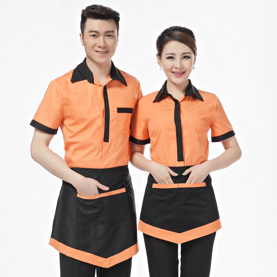 Hotel uniform summer clothing for waiters and waitress pot for Hotel design jersey